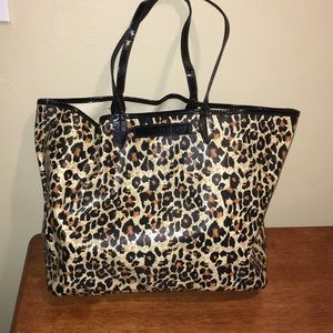 Victoria's Secret Leopard Tote Bag NWOT